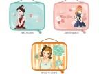 度妍新款双层韩版精致正品双层化妆包,旅行收纳袋时尚大牌化妆包