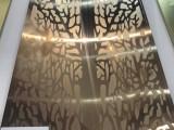 雅泓不锈钢镜面蚀刻面包树手工拉丝玫瑰金