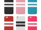 工厂低价促销 iphone5/5STPU贴皮手机壳 双色贴皮手机