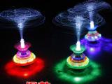 新款儿童发光玩具带皇冠闪光音乐光纤陀螺广