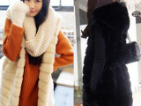2014新款仿皮草外套 毛毛外套皮草大衣马甲中长款女秋冬大衣