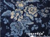 2013女装面料 中国风印花布外贸服装布料棉麻大花窗帘背景装饰布
