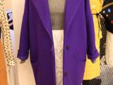 2015初春新款女装欧美茧型毛呢外套中长款宽松大码毛呢子大衣