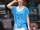 女装大码打底裙蕾丝新款连衣裙2013雪纺裙子夏季韩版两件套