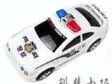 512电动玩具灯光音乐电动警车万向轮-会自动转弯的小汽车