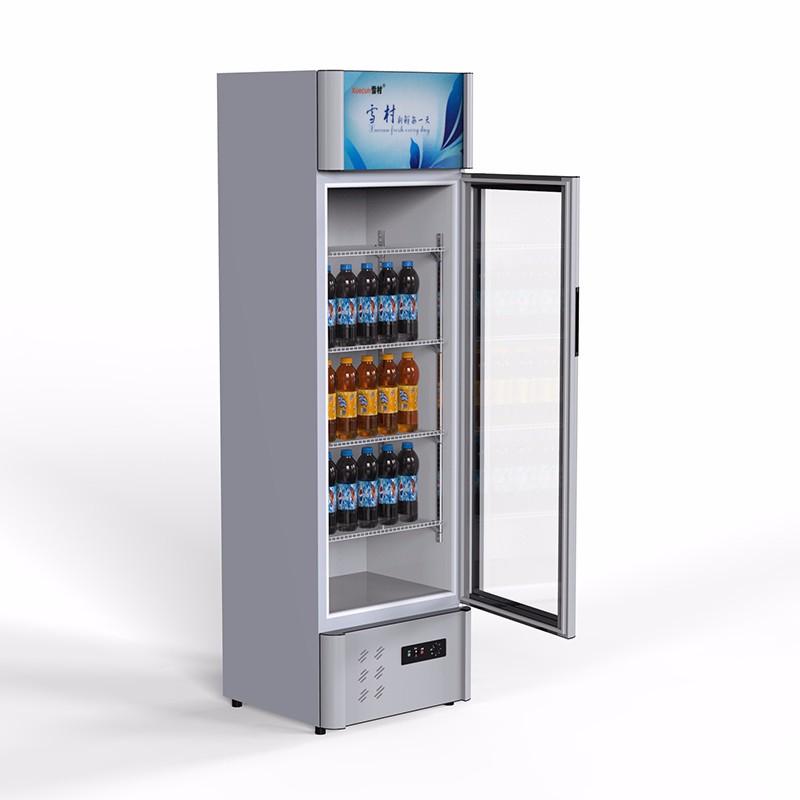 雪村 商用冷藏展示柜超市啤酒饮料单双门陈列柜蔬菜水果保鲜柜
