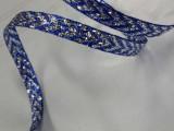 刺绣织带7mm蓝色葱带绣银色箭头织带绣花丝带彩葱特殊织带提花带