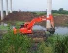东菀市厚街镇河道清淤水陆挖掘机租赁服务优质