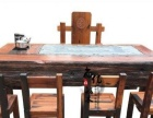 台州老船木茶桌茶台茶几批发实木家具