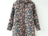 冬季新款韩版甜美碎花连帽棉袄女式宽松棉衣棉服女装批发代理代销