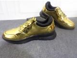 春季男鞋厂家直销金黄色亮面运动皮鞋增高休闲鞋青少年亮面皮鞋男