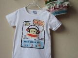 外贸童装 夏季猴子男童T恤 中小童纯棉短袖T恤 卡通猴子款