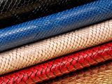 思林新款PVC蛇纹皮革鞋革  手感适中 适用于各种定型包 箱包