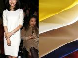 【样板货】2014新品女装批发 欧美高端精品 高档罗马布中袖连衣