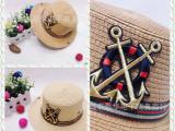 LH037 儿童可卷边爵士帽 嘻哈船舵礼帽 夏季儿童帽子 帽子批