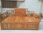 老榆木推拉床实木双人床多功能双人床实木沙发罗汉床定制