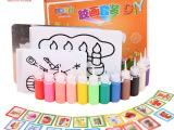 一件代发儿童DIY贴画手工早教玩具12色