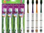 S5574韩国竹节4支装牙刷 纳米尼龙单尖磨毛刷丝牙刷 厂家直销
