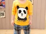 特价 秋季爆款 韩版童装童T恤 批发男女童卡通圆领长袖T恤纯棉