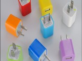 批发移动电源多色充电头 USB充电器 带ic保护适配器