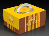圆形蛋糕盒8寸手提牛皮纸饼干盒 烘焙包装 图案印刷厂家定做批发