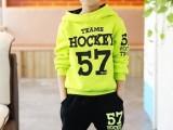新版冬款韩版男童数字套装儿童卫衣两件套儿童套装童装一件代发