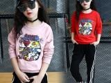 春款童装卫衣毛圈料中小童动物卡通套头衫