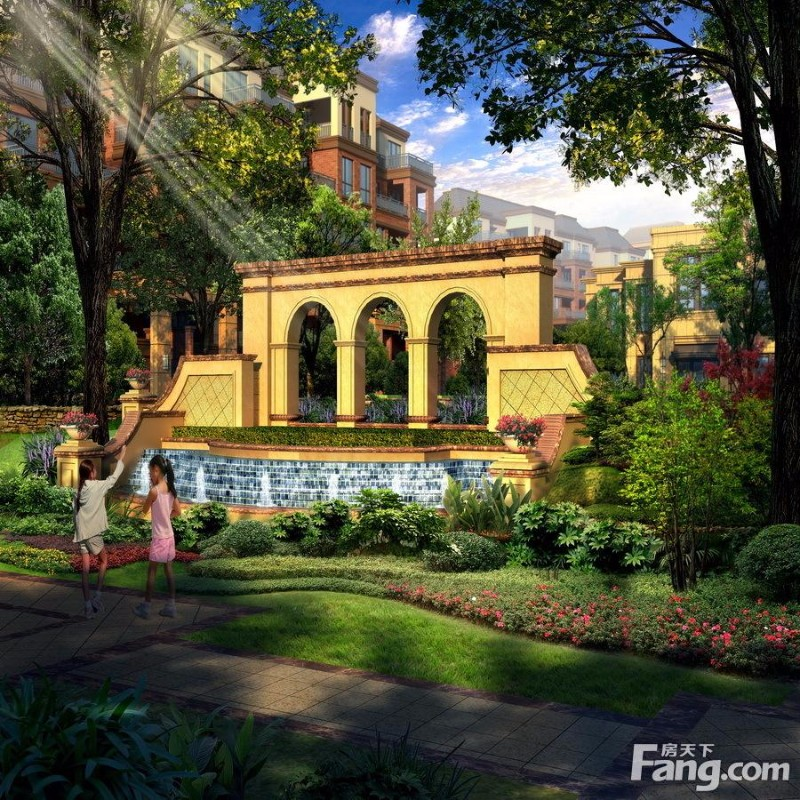岳麓欧城洋房 3室 2厅 97平米 出售 一楼带花园,现房!