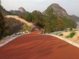彩色防滑道路地坪漆 小区彩色防滑地坪漆