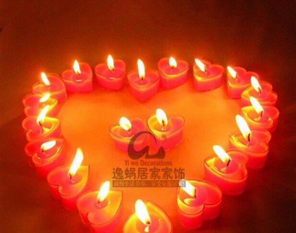 欧式婚庆生日表白礼物 蜡烛摆图套餐 浪漫烛光晚餐
