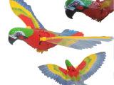 吊线电动鹦鹉 灯光音乐飞行玩具 儿童创意