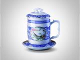 如花似锦套杯 瓷器茶具 创意瓷器 餐具瓷器 高档瓷器工艺品摆件