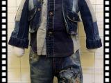 儿童牛仔带帽假两件套 超酷帅气 牛仔系列童装90-120CM 男