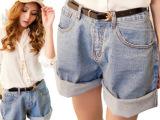 广州牛仔短裤批 stylenanda大码高腰直筒裤 牛仔裤女一件