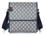爆款男士包时尚印花字母图案单肩包横版手提包PU皮商务包特价