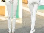 2014秋款韩版女士牛仔裤韩版显瘦小脚裤高腰铅笔裤子潮
