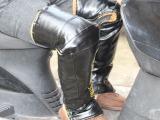 冬季电动车护膝 PU印字全包保暖护膝 带反光条电动车挡风套