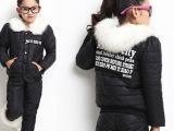 2013秋冬装新款加厚保暖中大童棉袄儿童棉服女童棉衣棉裤套装