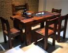 老船木茶几 中式简约实木大板茶桌椅厂家直销