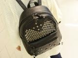 2014个性铆钉女士双肩包骷髅头女包英伦学院潮流背包休闲包包