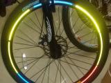 轮胎反光贴风火轮式 纸车轮贴纸 自行车反光贴 山地车车圈贴