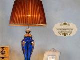 欧式后现代玻璃工艺台灯 卧室床头样板间酒店工程照明灯 厂家直销