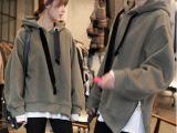2014韩版秋冬外套加厚加绒卫衣女装秋装连帽套头大码抓绒帽衫