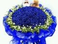 九江花店我爱你情人节表白玫瑰生日鲜花开业花篮