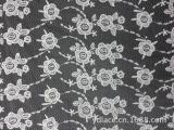 刺绣花边 厂家直销 钻石网 网底满幅 针织网纱 绣品 牛奶丝 多