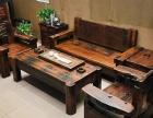 嘉峪关老船木茶台茶道桌茶几批发古船木泡茶桌椅组合大理石