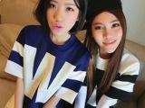 2014新款春装 韩版拼接撞色女装 W图案太空棉短袖女t恤 26