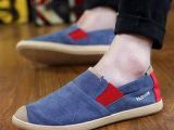 2015春秋单鞋男士帆布鞋韩版一脚蹬老北京布鞋潮鞋子懒人休闲男鞋