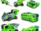 J907新奇创意七合一太阳能变幻装备 可充电儿童益智玩具车DIY