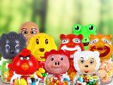 喜糖/儿童怀旧零食活力钙QQ吉利豆水果味软糖60克动物形儿童食品